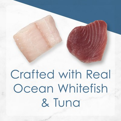Purely Fancy Feast Grilled Gravy Wet Cat Food, Ocean Whitefish & Tuna Feast