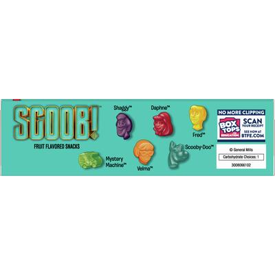 Betty Crocker Scooby Doo Snacks, Fruit Snacks, 10 Count