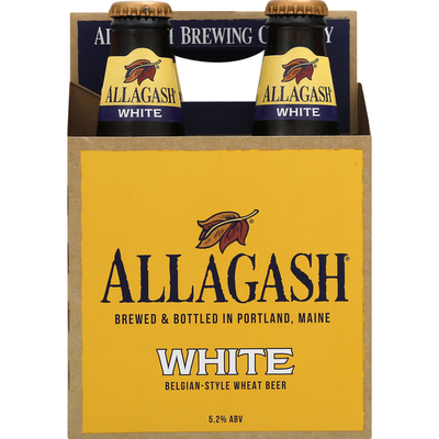 Allagash Beer, White, 4 Pack