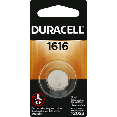 Duracell 1616 Lithium Coin Button Battery Specialty Batteries