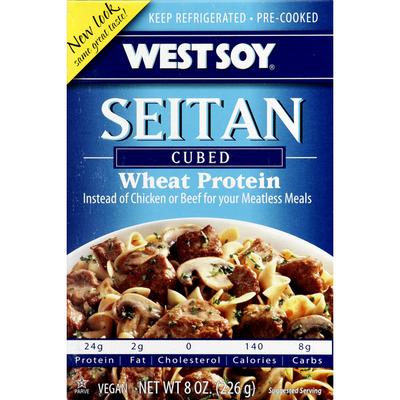 Westbrae Natural Seitan, Cubed