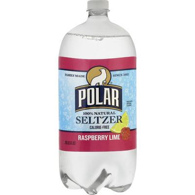 Polar Seltzer, 100% Natural, Raspberry Lime