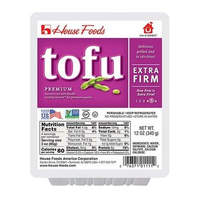 House Foods Tofu, Premium, Extra Firm