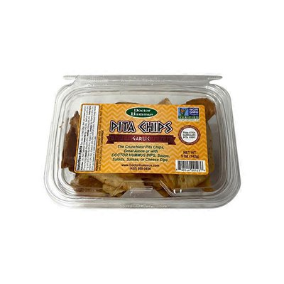 Doctor Hummus Garlic Pita Chips