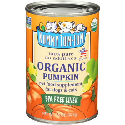 Nummy Tum Tum Pet Food Supplement for Dogs and Cats, Organic Pumpkin