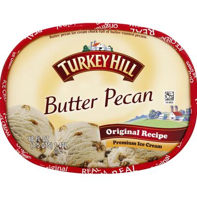 Turkey Hill Ice Cream, Premium, Butter Pecan, Original Recipe