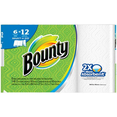 Bounty Select-A-Size White Double Rolls Paper Towels