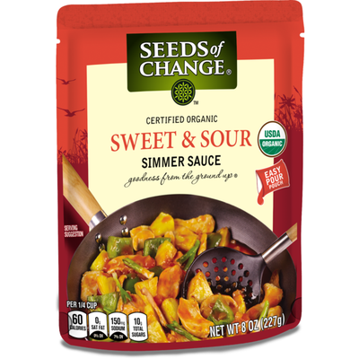 Seeds of Change Certified Organic Simmer Sauce Sweet & Sour