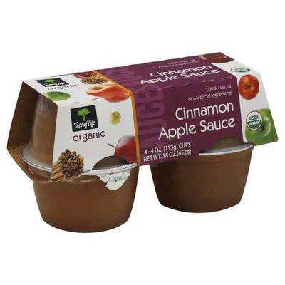 Tree Of Life Apple Sauce, Cinnamon
