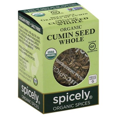 Spicely Organics Cumin Seed, Whole, Organic