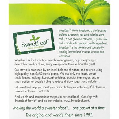 Sweet Leaf Tea Co Stevia Sweetener
