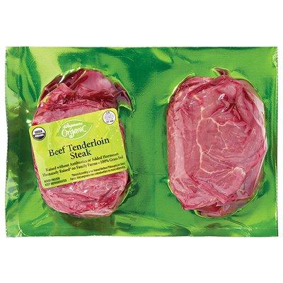 Wegmans Organic Food You Feel Good About Beef Tenderloin Steak, Grass Fed