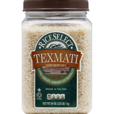 RiceSelect Light Brown Rice, Texmati