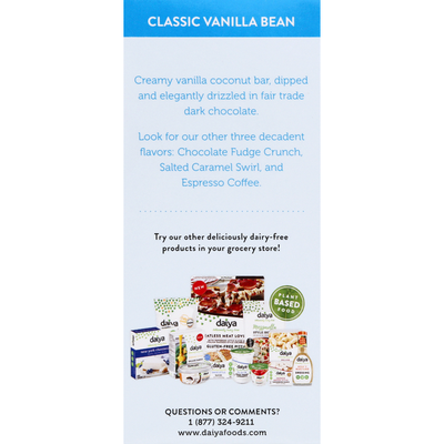 Daiya Coconut Bar, Classic Vanilla Bean
