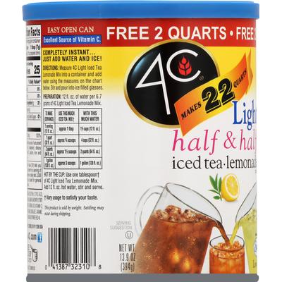 4C Foods Half & Half Mix, Iced Tea/Lemonade, Light