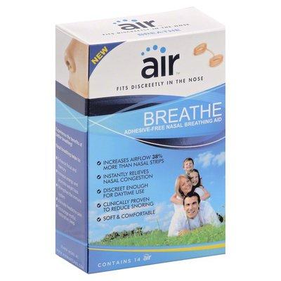 Air Breathing Aid, Nasal, Adhesive-Free, Breathe