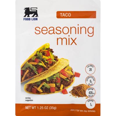 Food Lion Seasoning Mix, Taco, Envelope