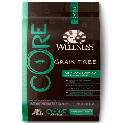Wellness Core Grain Free Protein-rich Nutrition Duck, Lamb Meal, Wild Boar & Rabbit Recipe Natural Food For Adult Dogs
