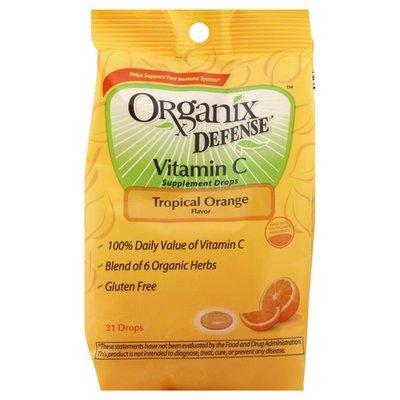 Organix Vitamin C Supplement Drops, Tropical Orange Flavor