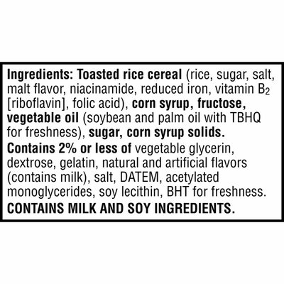 Kellogg's Rice Krispies Treats Large Marshmallow Snack Bars, Kids Snacks, Original