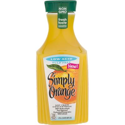 Simply Orange Low Acid Juice 100 Bottle
