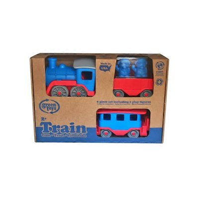 Green Toys Steam Engine Train Set - Blue