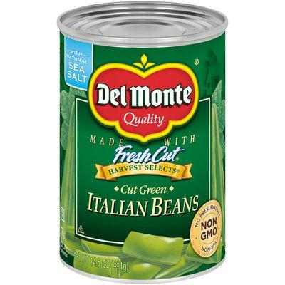 Del Monte Italian Beans, Cut Green, Harvest Select