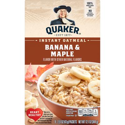 Quaker Instant Oatmeal Banana & Maple