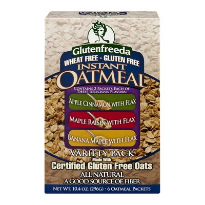 Glutenfreeda Oatmeal Instant Variety Pack - 6 CT