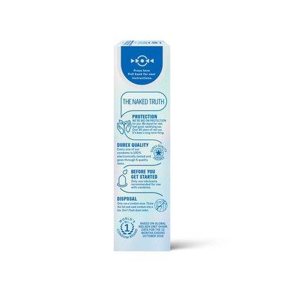 Durex® Condom Invisible Ultra Thin Natural Latex Condoms - Ultra Senstive, Lubricated, Transparent