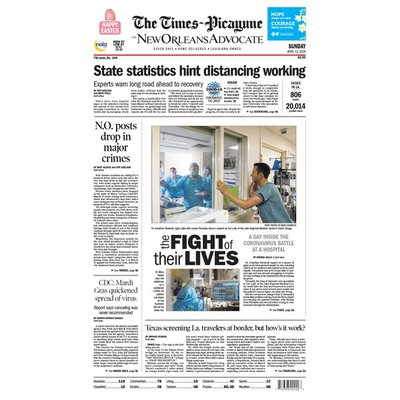 Advance Publications The Times-Picayune Sunday Newspaper