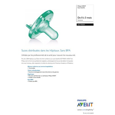 Philips Avent Soothie 0-3m, Green/Green, SCF190/01