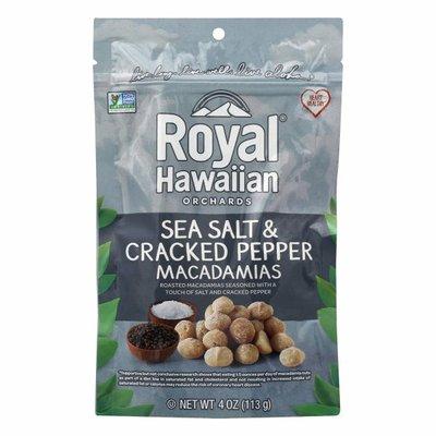 Royal Hawaiian Orchards Sea Salt & Cracked Pepper, Macadamias