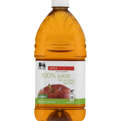Food Lion Juice, From Concentrate, Apple, Bottle