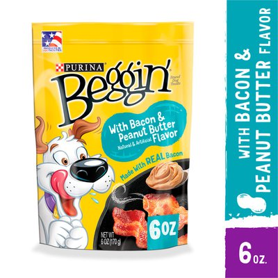 Purina Beggin' Strips Real Meat Dog Treats, With Bacon & Peanut Butter Flavor