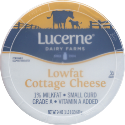 Lucerne Cottage Cheese, Lowfat, Small Curd, 1% Milkfat