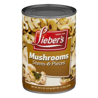 Lieber's Mushrooms Stems & Pieces