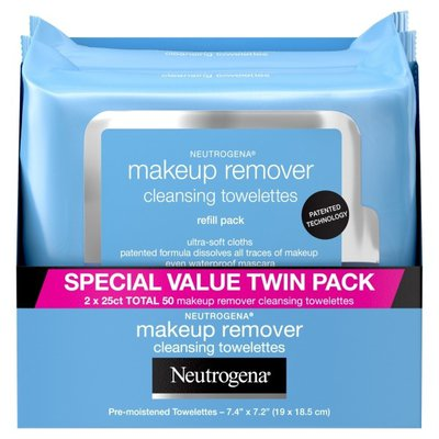 Neutrogena® Makeup Remover Cleansing Towelettes, 25 Count