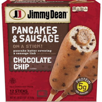 Jimmy Dean Pancakes and Sausage on a Stick, Chocolate Chip, Frozen