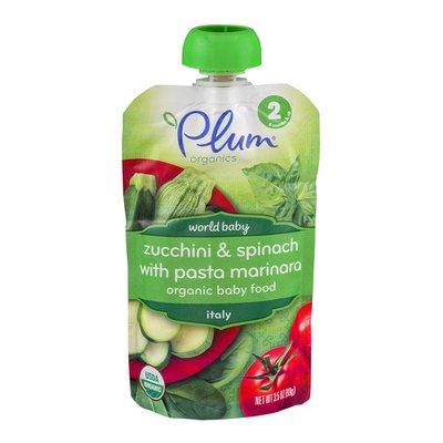 Plum Organics Organic Baby Food Zucchini & Spinach with Pasta Marinara Stage 2