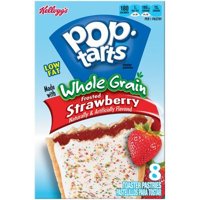 Kellogg's Pop-Tarts Whole Grain Frosted Strawberry Toaster Pastries
