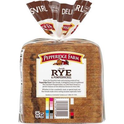Pepperidge Farm®  Jewish Rye & Pumpernickel Deli Rye & Pump Swirl Bread