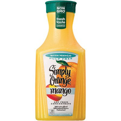 Simply Orange W/ Mango Juice Bottle