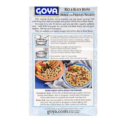 Goya Rice & Black Beans, Seasoned Mix