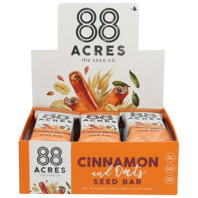 88 Acres Cinnamon & Oats Seed Bars
