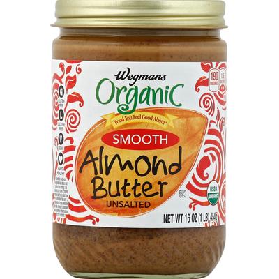 Wegmans Organic Smooth Unsalted Almond Butter