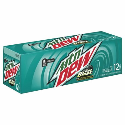 Mtn Dew Soda, Baja Blast, 12 Pack