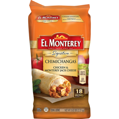 El Monterey Chimichangas, Chicken & Monterey Jack Cheese