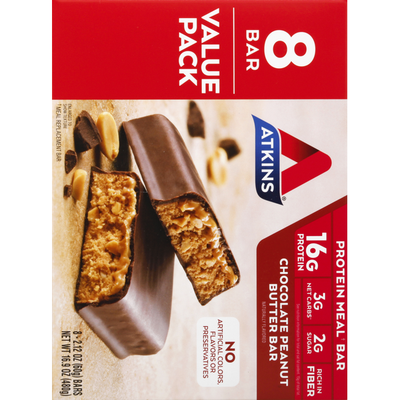 Atkins Protein Meal Bar, Chocolate Peanut Butter, Value Pack