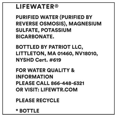 Life Wtr Purified Water